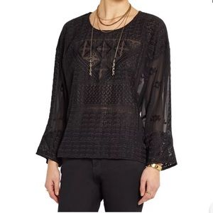 NWT ISABEL MARANT Alva Embroidered Blouse Top - 36